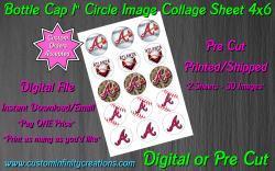 Atlanta Braves Baseball Bottle Cap 1 Circle Images #3 (digital or pre cut)