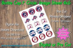 Atlanta Braves Bottle Cap 1 Circle Images #4 (instant download or pre cut)