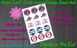 Atlanta Braves Baseball Bottle Cap 1 Circle Images #4 (digital or pre cut)