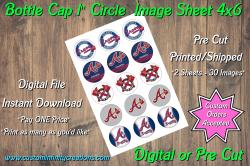 Atlanta Braves Bottle Cap 1 Circle Images #5 (instant download or pre cut)