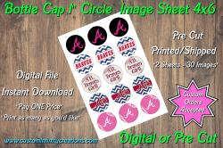 Atlanta Braves Bottle Cap 1 Circle Images #6 (instant download or pre cut)