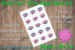 Atlanta Braves Bottle Cap 1 Circle Images #7 (instant download or pre cut)