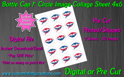 Atlanta Braves Baseball Bottle Cap 1 Circle Images #7 (digital or pre cut)