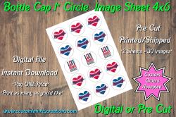 Atlanta Braves Bottle Cap 1 Circle Images #8 (instant download or pre cut)