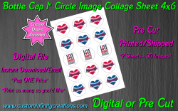Atlanta Braves Baseball Bottle Cap 1 Circle Images #8 (digital or pre cut)