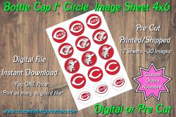 Cincinnati Reds Bottle Cap 1 Circle Images #1 (instant download or pre cut)