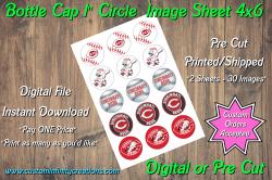 Cincinnati Reds Bottle Cap 1 Circle Images #2 (instant download or pre cut)