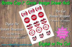 Cincinnati Reds Bottle Cap 1 Circle Images #4 (instant download or pre cut)