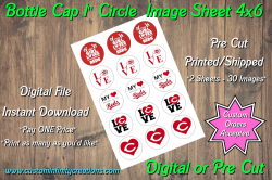 Cincinnati Reds Bottle Cap 1 Circle Images #5 (instant download or pre cut)