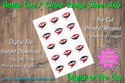 Cincinnati Reds Bottle Cap 1 Circle Images #6 (instant download or pre cut)