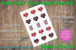 Cincinnati Reds Bottle Cap 1 Circle Images #7 (instant download or pre cut)