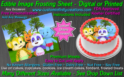 Word Party Edible Image Icing Frosting Sheet #9 Cake Cupcake Cookie Topper