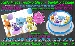 Word Party Edible Image Icing Frosting Sheet #10 Cake Cupcake Cookie Topper
