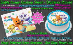 Word Party Edible Image Icing Frosting Sheet #12 Cake Cupcake Cookie Topper
