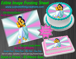 Aladdin Jasmine Edible Image Icing Frosting Sheet #23 Cake Cupcake Cookie Topper