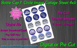 Colorado Rockies Baseball Bottle Cap 1 Circle Images #1 (digital or pre cut)