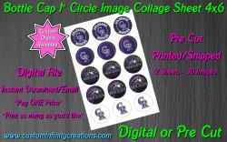 Colorado Rockies Baseball Bottle Cap 1 Circle Images #4 (digital or pre cut)