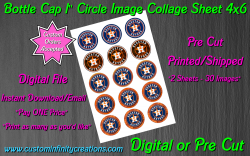 Houston Astros Baseball Bottle Cap 1 Circle Images #1 (digital or pre cut)
