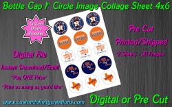 Houston Astros Baseball Bottle Cap 1 Circle Images #2 (digital or pre cut)