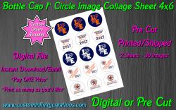 Houston Astros Baseball Bottle Cap 1 Circle Images #3 (digital or pre cut)