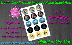 Miami Marlins Baseball Bottle Cap 1 Circle Images #1 (digital or pre cut)