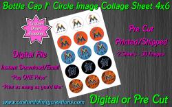 Miami Marlins Baseball Bottle Cap 1 Circle Images #2 (digital or pre cut)