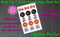 Miami Marlins Baseball Bottle Cap 1 Circle Images #5 (digital or pre cut)
