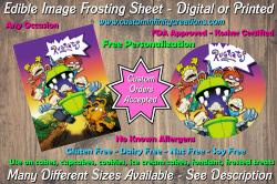 Rugrats Edible Image Frosting Sheet #1 Cake Cupcake Topper