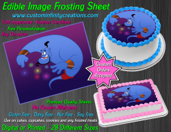 Genie Aladdin Edible Image Icing Frosting Sheet #69 Cake Cupcake Cookie Topper