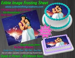 Aladdin Jasmine Edible Image Icing Frosting Sheet #75 Cake Cupcake Cookie Topper