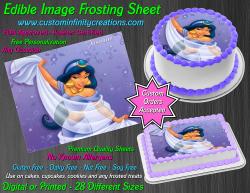 Jasmine Aladdin Edible Image Icing Frosting Sheet #4 Cake Cupcake Cookie Topper