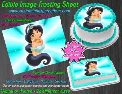 Jasmine Aladdin Edible Image Icing Frosting Sheet #5 Cake Cupcake Cookie Topper