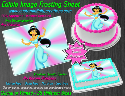 Jasmine Aladdin Edible Image Icing Frosting Sheet #10 Cake Cupcake Cookie Topper