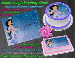 Jasmine Aladdin Edible Image Icing Frosting Sheet #13 Cake Cupcake Cookie Topper
