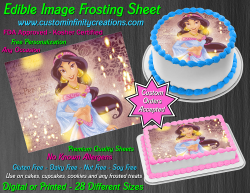 Jasmine Aladdin Edible Image Icing Frosting Sheet #30 Cake Cupcake Cookie Topper