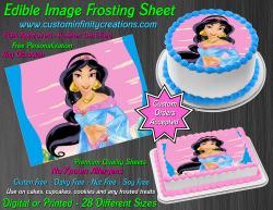 Jasmine Aladdin Edible Image Icing Frosting Sheet #59 Cake Cupcake Cookie Topper