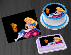 Alice in Wonderland Edible Image Frosting Sheet #1 Cake Cupcake Cookie Topper