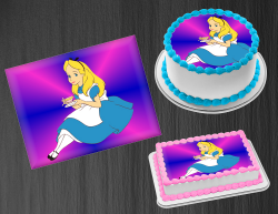 Alice in Wonderland Edible Image Frosting Sheet #3 Cake Cupcake Cookie Topper