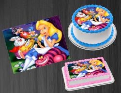Alice in Wonderland Edible Image Frosting Sheet #31 Cake Cupcake Cookie Topper