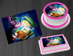 Alice in Wonderland Edible Image Frosting Sheet #42 Cake Cupcake Cookie Topper