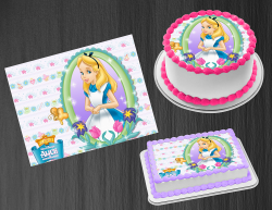 Alice in Wonderland Edible Image Frosting Sheet #51 Cake Cupcake Cookie Topper