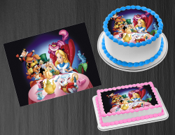 Alice in Wonderland Edible Image Frosting Sheet #43 Cake Cupcake Cookie Topper