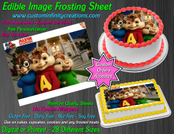 Alvin and the Chipmunks Edible Image Frosting Sheet #10 Cake Cupcake Topper