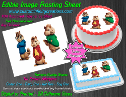 Alvin and the Chipmunks Edible Image Icing Frosting Sheet #9 Cake Cupcake Topper