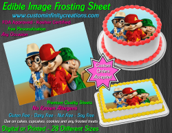 Alvin and the Chipmunks Edible Image Frosting Sheet #12 Cake Cupcake Topper