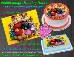 Alvin and the Chipmunks Edible Image Frosting Sheet #26 Cake Cupcake Topper
