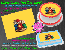 Alvin and the Chipmunks Edible Image Frosting Sheet #29 Cake Cupcake Topper