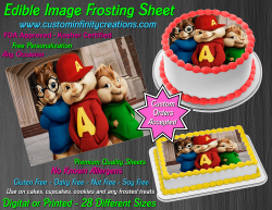 Alvin and the Chipmunks Edible Image Frosting Sheet #34 Cake Cupcake Topper