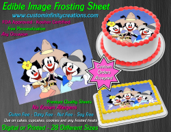 Animaniacs Edible Image Icing Frosting Sheet #1 Cake Cupcake Cookie Topper