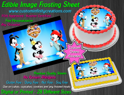 Animaniacs Edible Image Icing Frosting Sheet #6 Cake Cupcake Cookie Topper